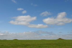 Burial mounds off to the right of Stonehenge